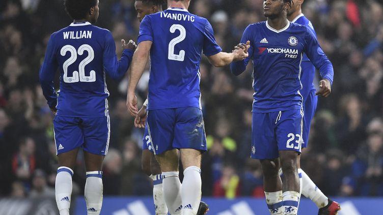 Les Blues de Michy Batshuayi ont été heureux au tirage (GLYN KIRK / AFP)