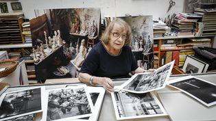 La photographe Sabine Weiss (© François Bouchon / Le Figaro)