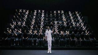 La chorégraphieannonçant les Jeux de Paris 2024 a été diffusée lors de la cérémonie de clôture des Jeux de Tokyo, le 5 septembre 2021. (ENNIO LEANZA)