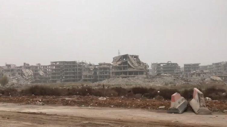 Une vue de la localité de Ein Terma, à la Ghouta, près de Damas. Février 2020 (VALERIE CROVA / RADIO FRANCE)