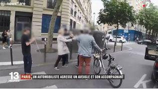 Un automobiliste agresse un aveugle et son accompagnant, lesamedi 15 juin,dans le 12e arrondissement de Paris. (NEWSFLARE / FRANCE 2)