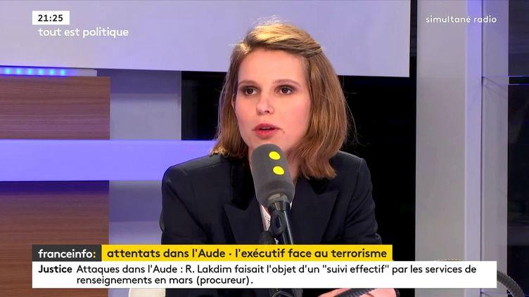Marie Lebec, députée La République en marche de la 4e circonscription des Yvelines, était l'invitée de franceinfo lundi 26 mars 2018. (FRANCEINFO)