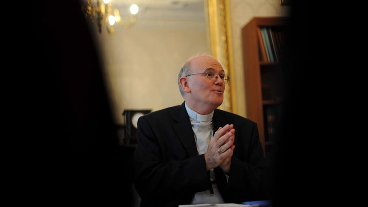 Mgr Jean-Paul James, évêque de Nantes. (FREDERIC GIROU / MAXPPP)