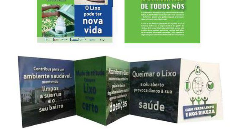 Brochures de sensibilisation sur la question des déchets au Cap-Vert.   (Capture d'écran (Waste roadmap in the republic of Cabo Verde))