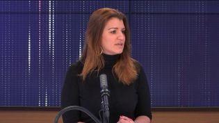 Marlène Schiappa,ministre déléguée auprès du ministre de l'Intérieur, chargée de la Citoyenneté, tête de liste LREM à Paris pour les régionales, le dimanche 2 mai 2021 sur franceinfo. (FRANCEINFO / RADIOFRANCE)