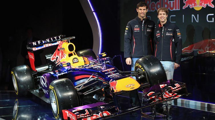 La présentation de la Red Bull R9 avec Vettel et Webber (RICHARD HEATHCOTE / GETTY IMAGES EUROPE)