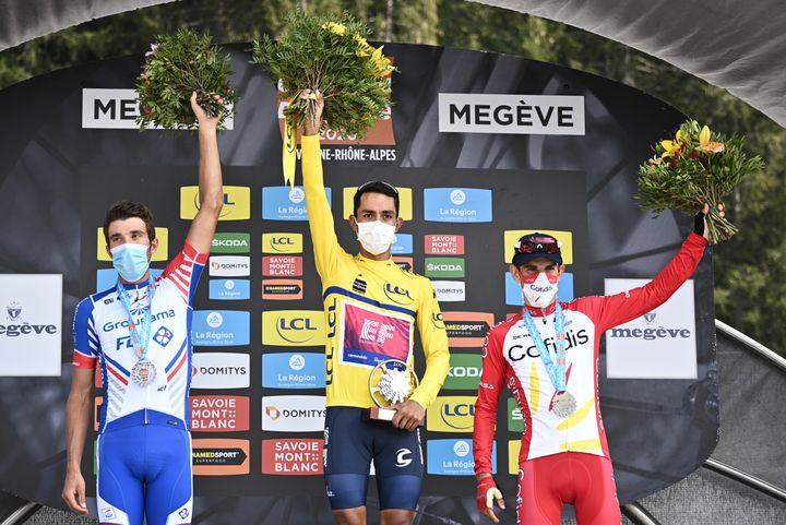Le podium du Critérium du Dauphiné 2020. (ANNE-CHRISTINE POUJOULAT / POOL)