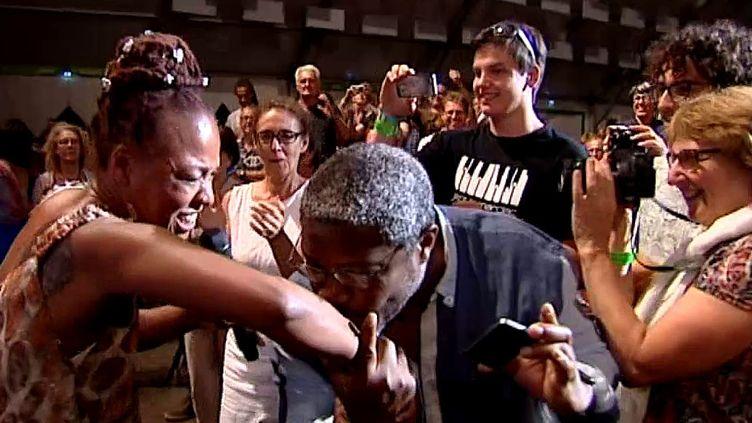 Nina Simone a enflammé et envoûté la scène du chapiteau du festival Jazz in Marciac mercredi soir.  (capture d'écran France 3 / Culturebox)
