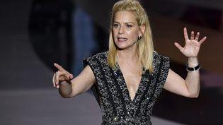 Marina Foïs, maîtresse de cérémonie de la 46e soirée des César, le 12 mars 2021. (DOMINIQUE CHARRIAU / AFP)