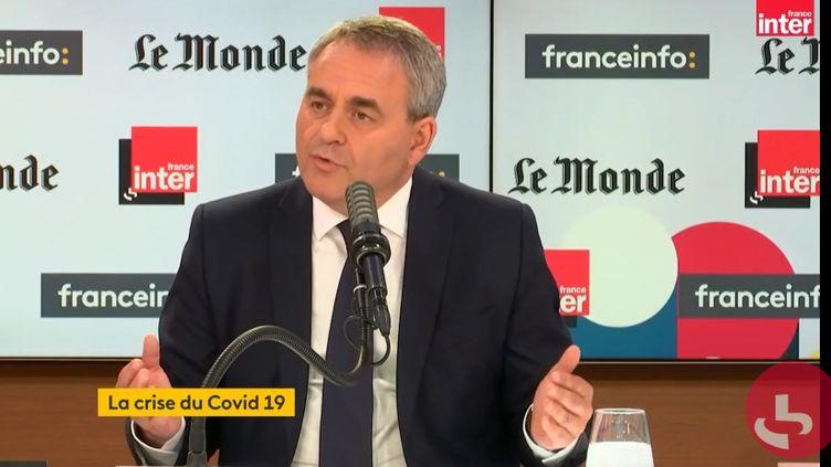 Xavier Bertrand, le président de la région Hauts-de-France, le 18 avril 2021. (FRANCEINFO / RADIOFRANCE)