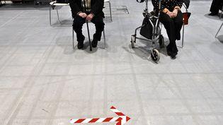 Vaccination contre le Covid-19 au Centre des congrès Prouvé, à Nancy, le 13 janvier 2021. (ALEXANDRE MARCHI / PHOTOPQR / L'EST REPUBLICAIN / MAXPPP)