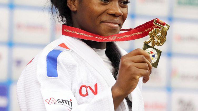 Clarisse Agbegnenou,championne du monde 2018 de judo en catégorie moins de 63 kilos. (ZURAB KURTSIKIDZE / MAXPPP)