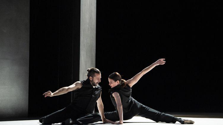 Marie-Agnès Gillot et Andrés Marín, au théâtre de Chaillot à Paris. (JULIEN BENHAMOU)