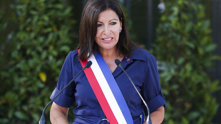 La maire de Paris, Anne Hidalgo, le 25 août 2019, à Paris. (ZAKARIA ABDELKAFI / AFP)