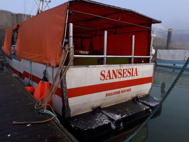 """Le """"Sansesia"""" accosté dans le port de Dunkerque, le 11 janvier 2018. (FARIDA NOUAR / RADIO FRANCE)"""