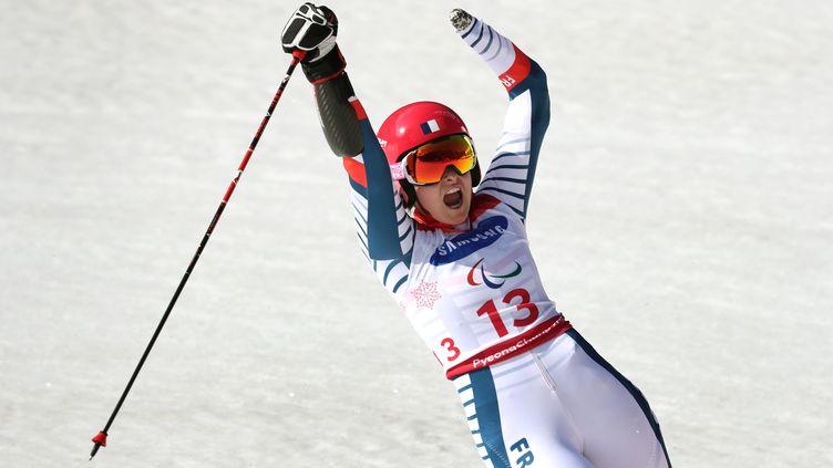 Marie Bochet lors de son 4e titre à Pyeongchang (KARL-JOSEF HILDENBRAND / DPA)