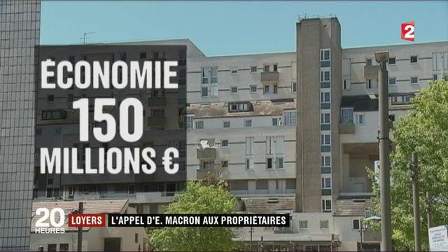 Loyers : l'appel d'Emmanuel Macron aux propriétaires