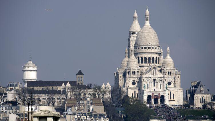 La basilique du Sacré Cœur, à Paris, le 27 mars 2014. (LIONEL BONAVENTURE / AFP)
