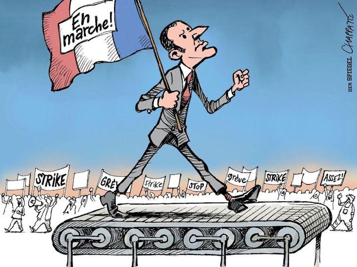 """(Chapatte/""""Der Spiegel""""/Maison du dessin de presse, Morges 2018)"""