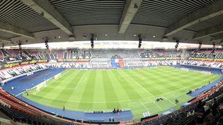 Le Parc des Princes avant la rencontre entre le PSG et Manchester City. (Adrien Hémard)