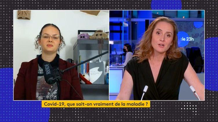 Tania Louis (Capture d'écran Franceinfo)