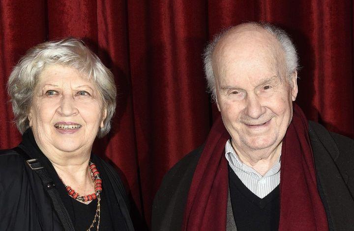 Juliette Carré et Michel Bouquet en mars 2018.  (DELALANDE/SIPA)