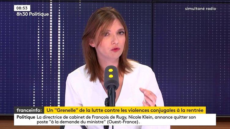 Aurore Bergé, sur franceinfo, jeudi 11 juillet. (FRANCEINFO / RADIO FRANCE)