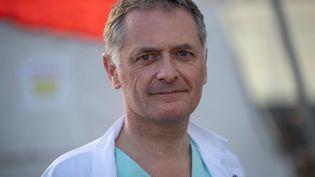 Philippe Juvin, chef du service des urgences de l'hôpital Georges-Pompidou à Paris. (THOMAS SAMSON / AFP)