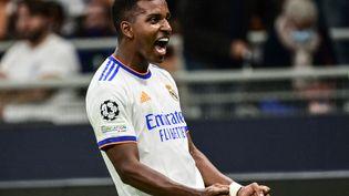 Rodrygo a inscrit le seul but du match entre l'Inter Milan et le Real Madrid, le 15 septembre 2021. (MIGUEL MEDINA / AFP)