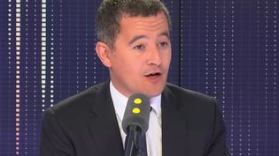 Gérald Darmanin, ministre de l'Action et des comptes publics, sur franceinfo le 5 septembre 2018. (RADIO FRANCE / FRANCE INFO)