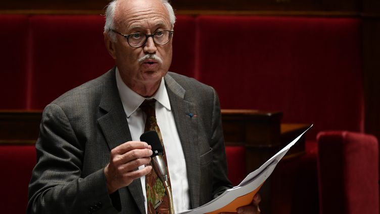 Le député LREM Jean-Louis Touraine,amendement automatisant la reconnaissance en France de la filiation d'enfants par GPA à l'étranger, le 25 septembre 2019 à l'Assemblée nationale. (PHILIPPE LOPEZ / AFP)