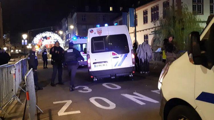 Installé dans un chalet place Kléber, Denis Kopp a entendu les coups de feu. (LUCILE GUILLOTIN / FRANCE-BLEU ALSACE / RADIO FRANCE)