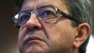 Jean-Luc Mélenchon le 31 mars 2017 lors d'uen meeting de campagne de la présidentielle (GABRIEL BOUYS / AFP)