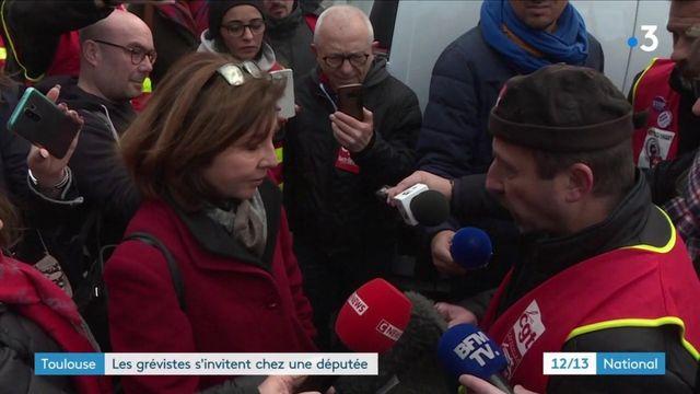 Grève contre la réforme des retraites : à Toulouse, une députée interpellée par des grévistes