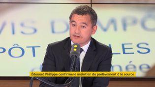 Le ministre de l'Action et des Comptes publics, le 5 septembre 2018 sur franceinfo. (FRANCEINFO)