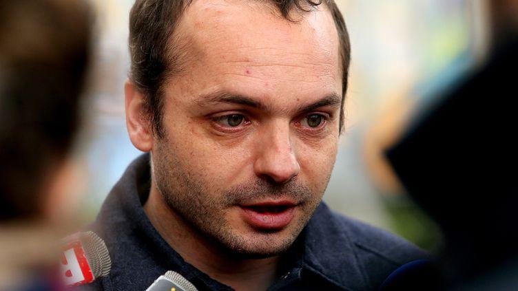 François Lambert, le neveu de Vincent Lambert, le 20 mai à Reims. (FRANCOIS NASCIMBENI / AFP)