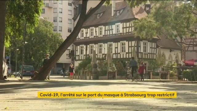 Port du masque obligatoire : un arrêté jugé trop restrictif à Strasbourg