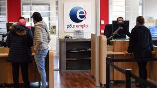 Une agence Pôle emploi à Montpellier (Hérault). Photo d'illustration. (PASCAL GUYOT / AFP)
