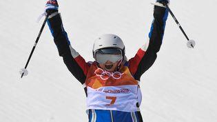 La skieuse Marie Martinod, lors des Jeux olympiques de Pyeongchang (Corée du Sud), le 19 février 2018. (LOIC VENANCE / AFP)