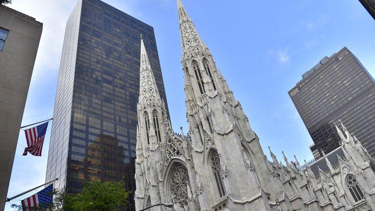 La cathédrale Saint-Patrick de New York (Etats-Unis), le 2 juillet 2017. (LOIC VENANCE / AFP)