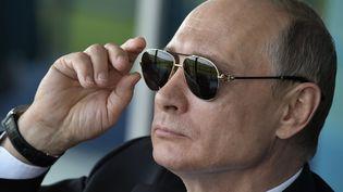 Vladimir Poutine à Moscou, le 18 juillet 2017. (ALEXEY NIKOLSKY / SPUTNIK / AFP)