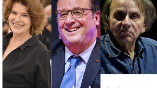 Fanny Ardant, François Hollande et Michel Houellebecq aux Francofolies de La Rochelle 2019. (AFP)