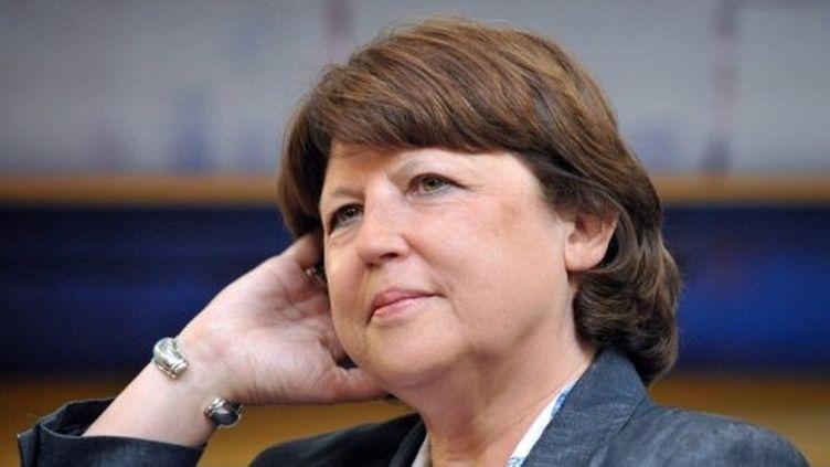 Martine Aubry à Morlaix le 29 juillet 2011 (AFP/FRED TANNEAU)