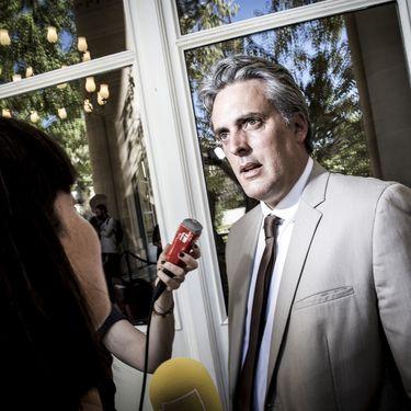 Sébastien Denaja, alors député PS, le 19 juillet 2016 à l'Assemblée nationale. (RGA / REA)