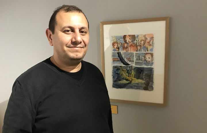 Seif Eddine Necchi (Collectif LAB-619, Tunisie), Angoulême 2018  (Laurence Houot / Culturebox)