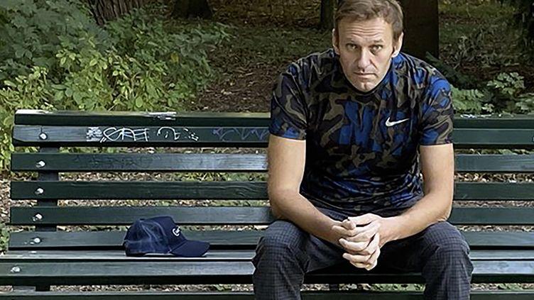 L'opposant russe Alexeï Navalny à Berlin le 23 septembre 2020, après avoir été dans lecoma pendant près de trois semaines. (AFP/ INSTAGRAM ACCOUNT @NAVALNY)