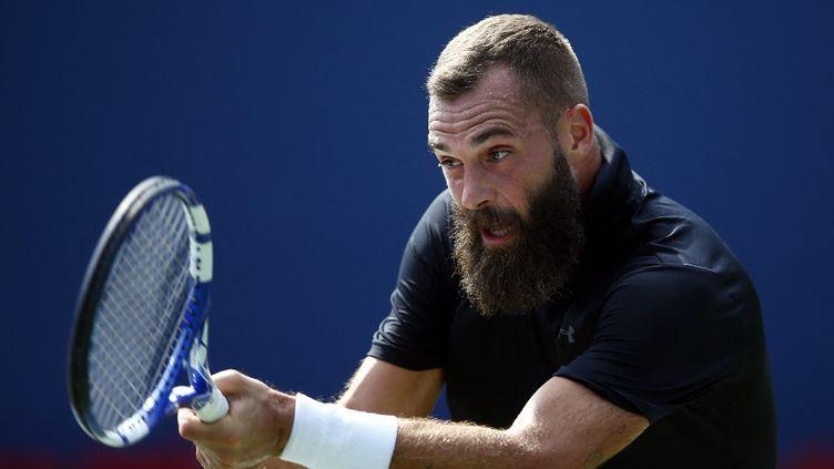 Benoit Paire s'est qualifié pour les quarts de finale du Masters 1000 de Cincinnati, le 19 août 2021. (VAUGHN RIDLEY / GETTY IMAGES NORTH AMERICA / AFP)