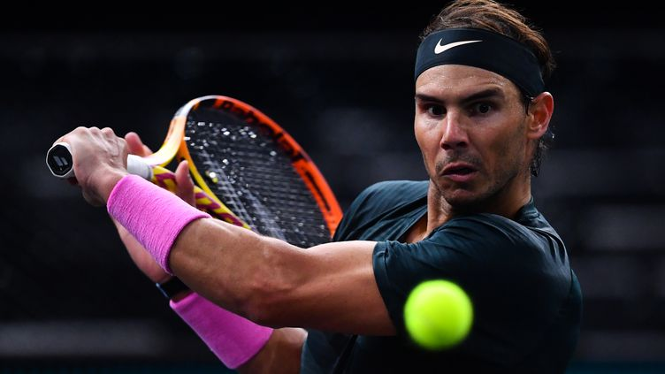 Rafael Nadal vise une place en finale du Rolex Paris Masters. (FRANCK FIFE / AFP)