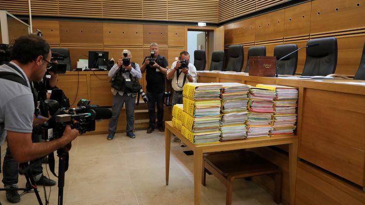 Lors de l'ouverture du procès des assassins présumé d'Hélène Pastor, le 17 septembre 2018. (MAXPPP)