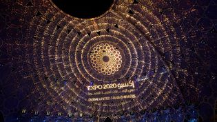 Dubaï, 1er octobre 2021. Photo prise le 30 septembre 2021, lors de la cérémonie d'ouverture de l'Expo 2020 Dubaï, exposition retardée en raison de la crise sanitaire. (XINHUA / NEWS AGENCY / MAXPPP)